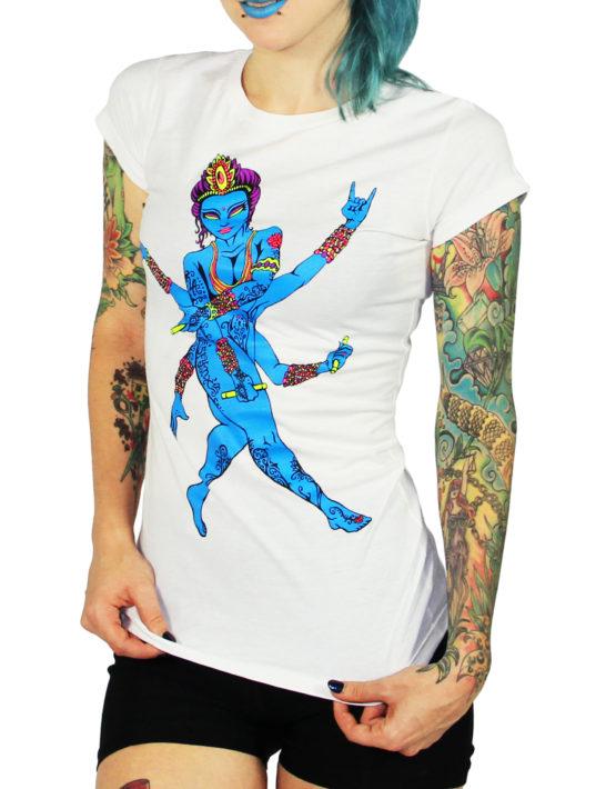 Women Blue Lady White