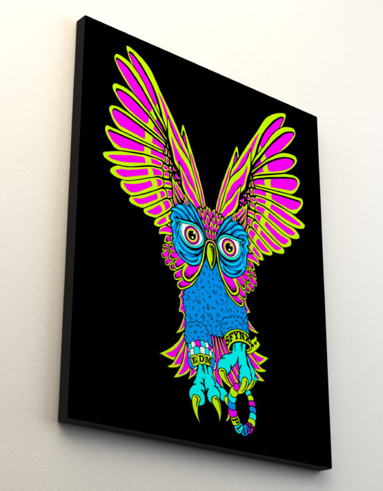 PLUR Owl Canvas